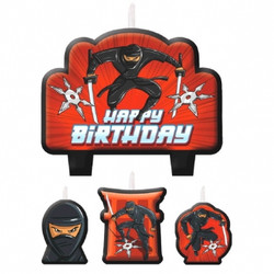Ninja Birthday Candles 4 count