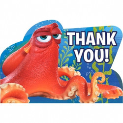 Disney Pixar Finding Dory Postcard Thank You 8 pack