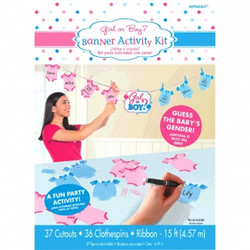Girl or Boy Gender Reveal Banner Activity Kit