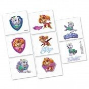 GIRL PUPS SKYE & EVEREST PAW PATROL 8 Pack Tattoo