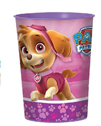 Girl Pups Paw Patrol Favor Cup Skye & Everest 16 oz Plastic Reusable Cups