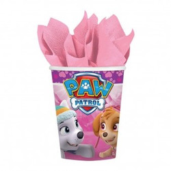 Girl Pups Paw Patrol 8 Pack 9 oz. Paper Cups Skye & Everest