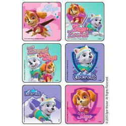 45 Ct Girl Pups Paw Patrol Skye Everest Stickers -Great Party Favors, Rewards