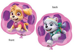 Supershape GIRL PUPS SKYE & EVEREST PAW PATROL 2 Sided Foil Balloon Decoration