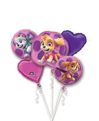 Balloon Bouquet  GIRL PUPS SKYE & EVEREST PAW PATROL Foil (5 pieces) Decoration