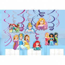 Disney Princess Dream Big Value Pack Swirl Decorations (12 pack)