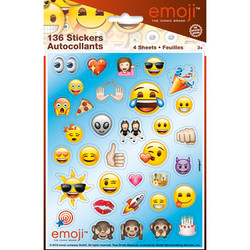 EMOJI STICKER SHEETS (4 COUNT)