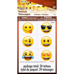 EMOJI TATTOO SHEETS (4 COUNT)