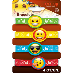 EMOJI STRETCHY BRACELETS (4 PACK)