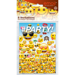 EMOJI INVITATIONS (8 PACK)
