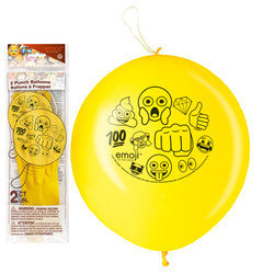 EMOJI PUNCH BALLOONS (2 PACK)