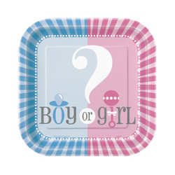 "GENDER REVEAL 7"" PLATES (10 PACK)"