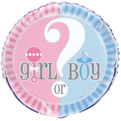 "GENDER REVEAL 18"" FOIL BALLOON"