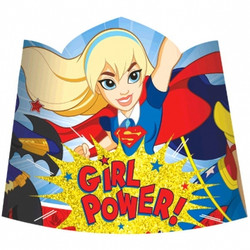 DC Super Hero Girls Paper Tiara Headbands (8 pack)