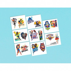 DC Super Hero Girls Tattoos (16 pack)