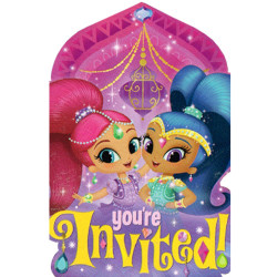 Shimmer & Shine Postcard Invitations (8 pack)