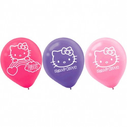 Hello Kitty Rainbow® Printed Latex Balloons (6 pack)