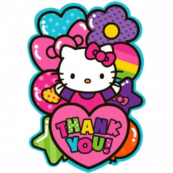 Hello Kitty Rainbow® Postcard Thank You Cards (8 pack)