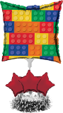 Block Party Air Filled Balloon Centerpiece Kit