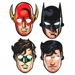 Justice League™ Paper Masks (8 count)