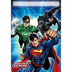 Justice League™ Folded Loot Bags (8 count)