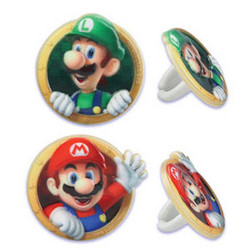 SUPER MARIO CUPCAKE RINGS 12 PACK
