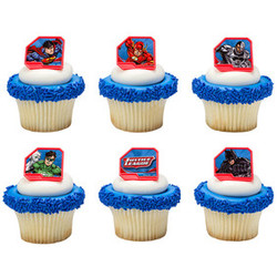 Justice League - Justice Cupcake Rings (12 count)
