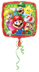 "18"" Square Super Mario Brothers Foil Balloon"
