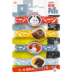 Secret Life of Pets Stretchy Braelets (4 pack)
