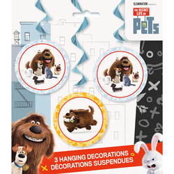 Secret Life Of Pets Hanging Swirls (3 count)