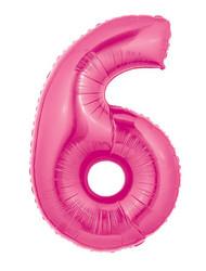 "40"""""""""""""""" MEGALOON PINK NUMBER 6"