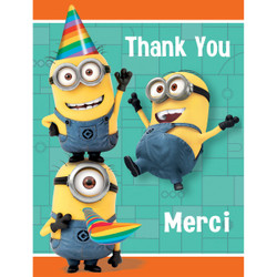 Despicable Me Thank You Notes, 8ct