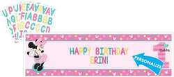 Disney Minnie's Fun To Be One Personalized Giant Banner Kit