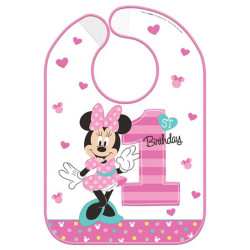 Disney Minnie's Fun To Be One Vinyl Baby Bib