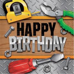 Handyman Happy Birthday Lunch Napkins (16)
