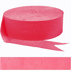 HOT PINK CREPE STREAMER 81'
