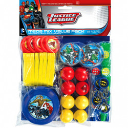 Justice League Mega Mix Value Pack Favors 48 pc  (enough for 8 children)
