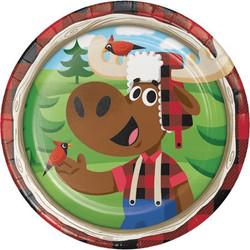"Lum-Bear-Jack 7"""""""" Plates (8)"
