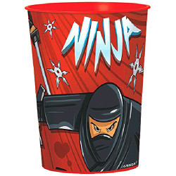 Ninja Favor 16 oz. Plastic Favor Cup