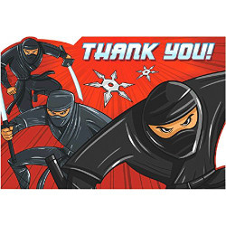 Ninja Postcard Thank You Cards 8 pack