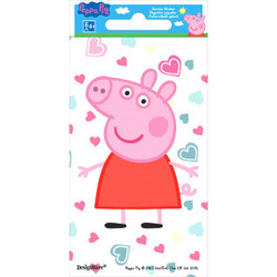 "Peppa Pig Jumbo Sticker (5 1/2"""""""" x 2 3/4"""""""") each"