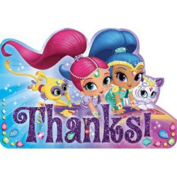 Shimmer and Shine Postcard Thank You Cards(8)