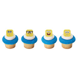 SpongeBob SquarePants Mood Faces Cupcake Rings 12 pack