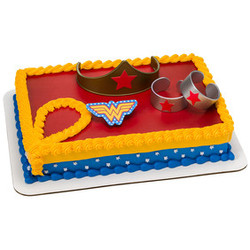 Wonder Woman Strength & Power DecoSet? Cake Decoration