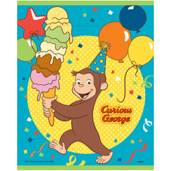 "Make a bunch of monkeys happy and send them home with our Plastic Curious George Goodie Bags. Each plastic favor bag measures 9 by 7-inches and comes with a cute Curious George design that kids will love. Use these Curious George goodie bags to hold a fun assortment of candy and party favors for your little guests, then pass them out at the end of your Curious George birthday party. Make sure to check out the rest of our Curious George party supplies for more fun ways to have a swingin' time! 8 Plastic Curious George Favor Bags (9"" x 7"") Fill Curious George Goodie Bags with candy and favors Use Curious George themed party supplies for a boy's birthday party"