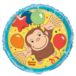 "Curious George Round Foil Balloon 18"","
