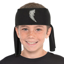 Top off your little one's Power Rangers costume with this Power Rangers Ninja Steel Headband! This black fabric headband features a silver lightning bolt symbol in the middle. Tie this onto your little one's head to accentuate the rest of his Ninja Steel Ranger costume. Your little Ninja Ranger will be ready to protect the Ninja Power Stars from Galvanax this Halloween when you complete their costume with this headband! Power Rangers Ninja Steel Headband product details:  3in wide x 40 1/2in long Fabric One size fits most children Hand wash only Not for children under 3 years.