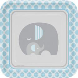 Little Peanut Boy Elephant Dinner Plates