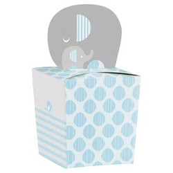 Little Peanut Boy Elephant Favor Boxes