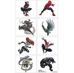 Spider-Man Webbed Wonder Tattoos 1 Sheet